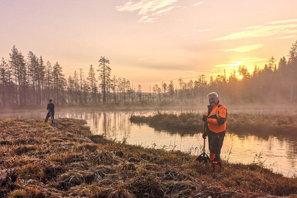 Suojelualue metsänhoito retkeily